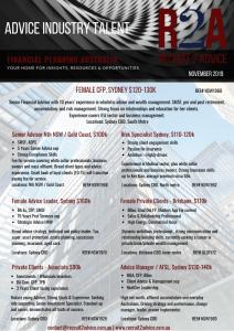 Recruit 2 Advice - Financial Planning Recruitment - Advice Talent Nov 2019